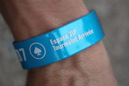 Bracelet pour l'acces à la tribune VIP