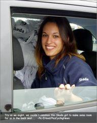 Hotesse de la caravane Skoda