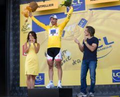 Violaine Reynier (LCL 2009), F.Cancellara et Ben Stiller