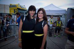 Elsa Boirie et Magalie Thierry, hotesses du podium Powerbar 2013