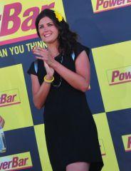 Magalie Thierry, hotesse du podium PowerBar 2013