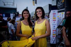 Laurence Galon et Marie-Alexie Bazerque, hotesses du podium LCL 2013